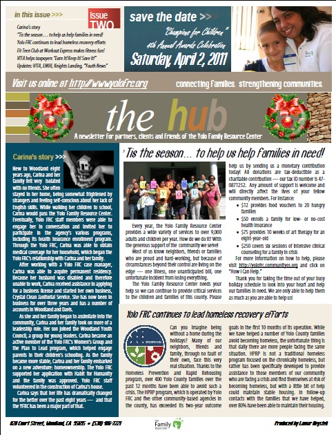 The Hub - Yolo Family Resource Center Newsletter
